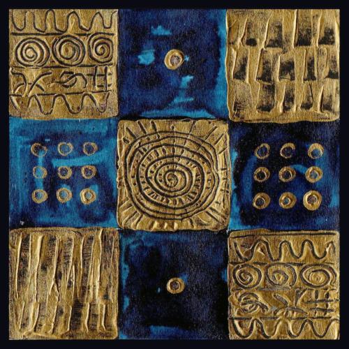 Bleu et Or (13x13)