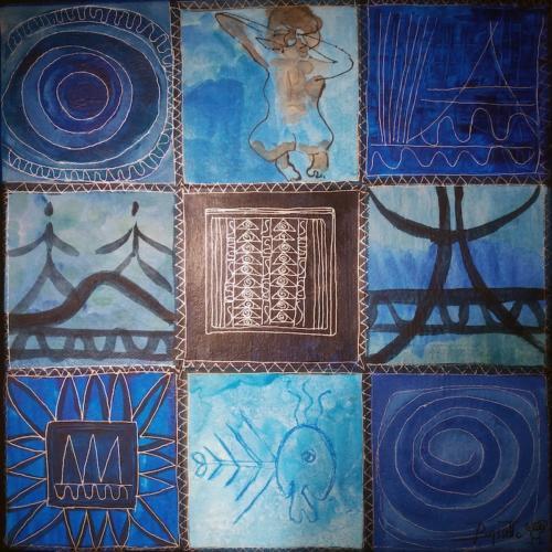 Le Bleu de l'eau... (30x30)